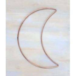 8 inch 21cm Metal Half Crescent Moon Steel Dream Catcher Macrame Craft Hoop DIY Gifts UK