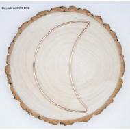 "16"" 40cm Large Half Crescent Moon Craft Rings Craft Hoops 10pk"