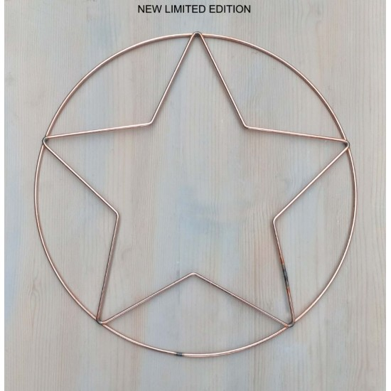 Wire Star and Circle to Decorate 30 cm Door Wall Wreath To Decorate 3pk