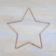 """11"""" 29cm Wire Star Wreath Shape To Decorate Metal Craft Star 10 Pack"""