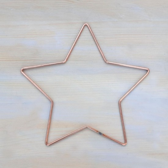"11"" 29cm Wire Star Wreath Shape To Decorate Metal Craft Star 10 Pack"