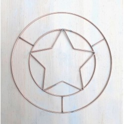 30 cm Wire Star Circle Shape Door Wreath to Decorate Adult Crafts