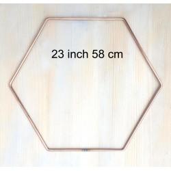 Strong Large Metal Hexagon Wedding Backdrop Archways Hoop Steel Macrame Ring 10 pk