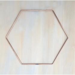 "9"" (22.8cm) Hexagon Floral Dreamcatcher Craft Hoops 5 Pack"