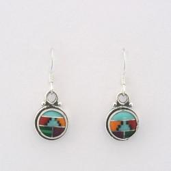 Multi Colour & Silver Earrings