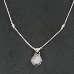 Moonstone & Silver Necklace