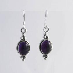 Amethyst & Silver Earrings