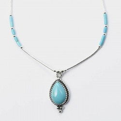 Turquoise & Silver Necklace