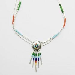 Multi Colour 3 Strand Necklace