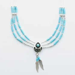 3 Strand Bear Paw Silver Necklace