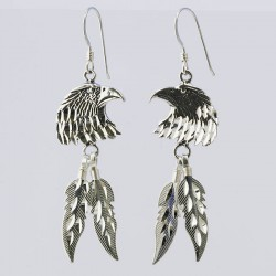 Eagle Silver Earrings