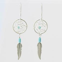 Small Dreamcatcher Bead Earrings