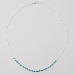 Turquoise Bead & Silver Necklace