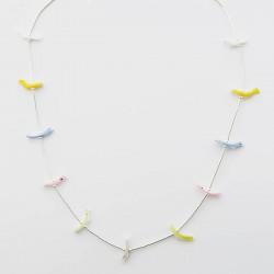 Delicate Birds & Silver Fetish Necklace