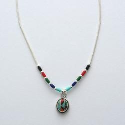 Multi Colour & Silver Necklace