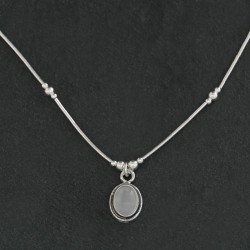 Moonstone & Silver Necklace