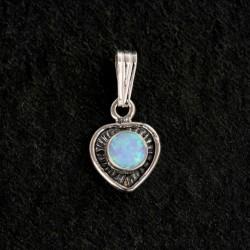 Blue Synthetic Opal & Silver Pendant 985PBO