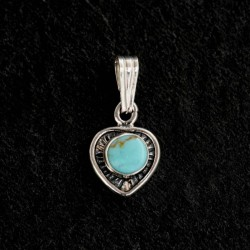 Turquoise Silver Pendant 985NT
