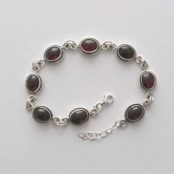 Garnet Link Bracelet
