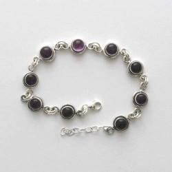 Amethyst Link Bracelet