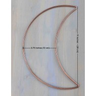 "11"" 27.9cm  Half Crescent Moon Dreamcatcher Craft Hoops Copper Coated 5 Pack"