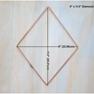 "9"" Diamond 9"" x 11.5"" Craft Hoops Wall Display 10 Pack Dream Catcher Hoop DIY"
