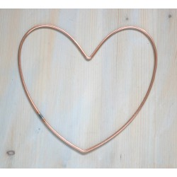 12 inch 30 cm Wire Heart Craft Hoop Metal Heart for Decorating 5 Pack
