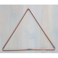 "5"" Triangle Steel Copper Coated Macrame Craft Hoops Rings 10 pack  5"" 12.7cm"