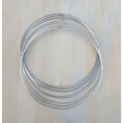 Silver Metal Ring For Crafts Dream Catcher Macrame Craft Hoop Galvanised 5pk